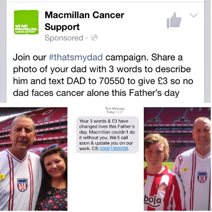 Macmillan Father's Day campaign
