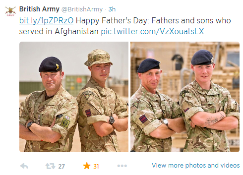 British Army Fathers Day Campaign