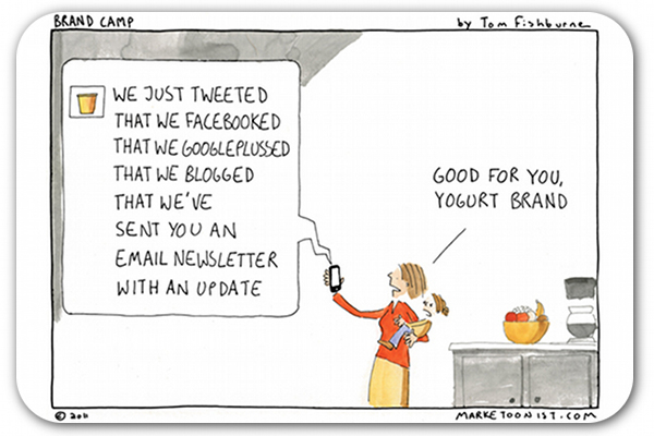 Social media overload cartoon