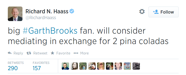 Richard Haas Garth Brooks Tweet