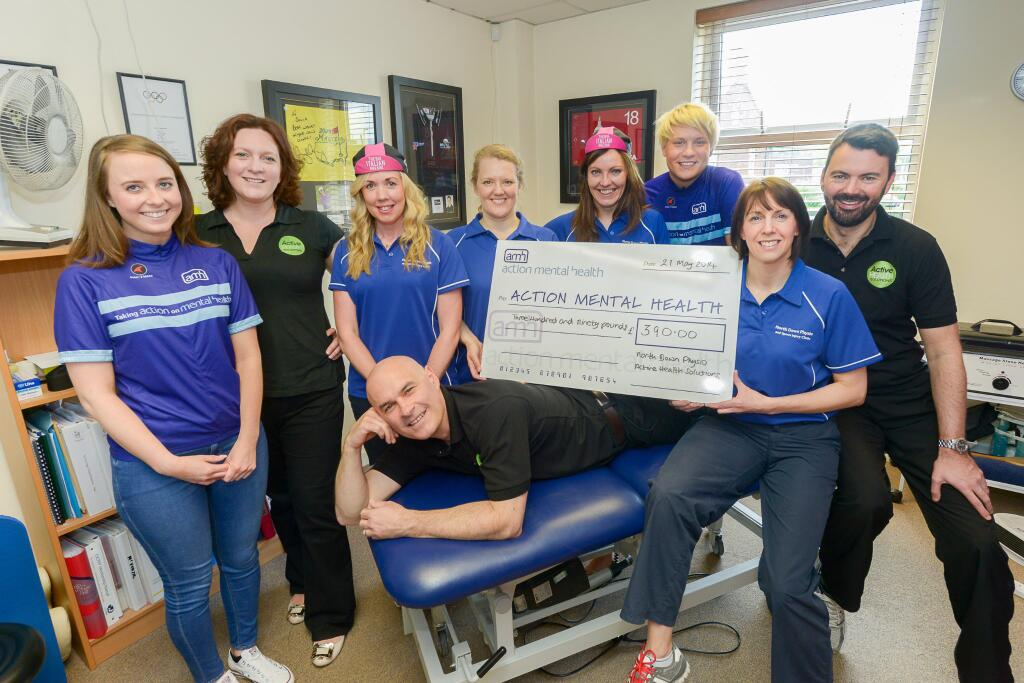 AMH North Down Physios Cheque Pres Photo Call