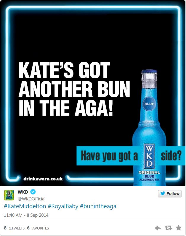 WKD Royal Baby Tweet