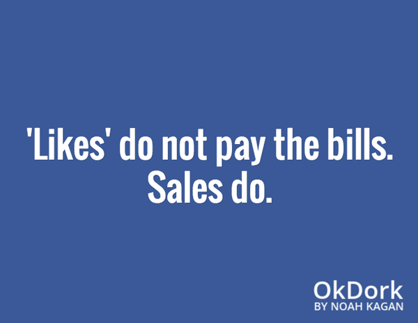 likes dont pay the bills