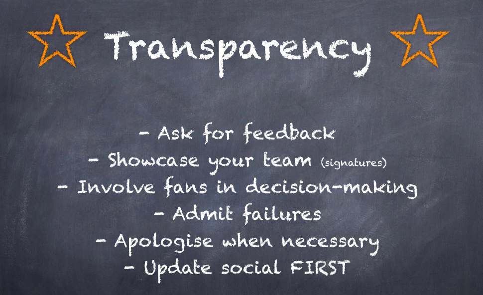 Transparency-social-customer-service